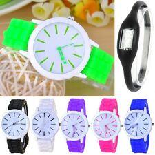 Women Geneva Silicone Rubber Jelly Gel Quartz Analog Sports Women Wrist Watch B2