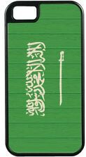 Saudi Arabia Flag on Distressed Wood TOUGH-IT Case for iPhone 4/4s, 5/5s