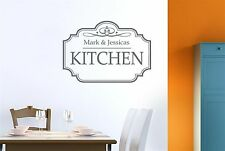 Personalised Classic Kitchen Sign Wall Stickers Decals Art Decor Vinyl