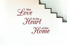 May Love Be The Heart Of This Home Wall Stickers Decals Art Quotes