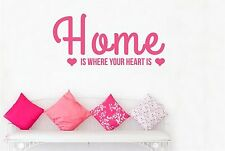 Home Is Where Your Heart Is Two Cute Hearts Wall Stickers Decals Art Decor Vinyl