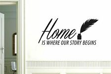 Home Is Where Our story Begins Wall Stickers Decals Art Quotes Decor Vinyl
