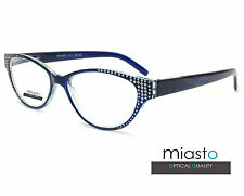 """NWT$39.99 MIASTO DESIGNER BLING """"CAT EYE"""" SEXY READERS READING GLASSES/CHEATERS"""
