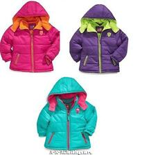 NWT Girl's Pink Platinum Winter Puffer Hooded Coat Jacket 2T 3T 4T 4