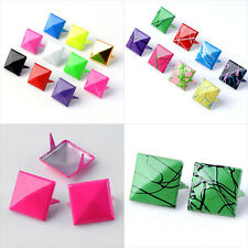 Cool Punk Rock Square Pyramid Spike Studs Clothes Leather Craft DIY Nailhead