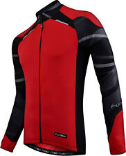 2014 Funkier Long Sleeve Cycling Jersey / Top - Red - J730