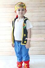 Funny Pirate Corsair Character Boy Kid Party Costume Outfit Halloween Gift 2-7Y