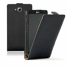 ULTRA SLIM Leather Flip Case Cover Pouch for Mobile Phone LG Optimus L9 2 / D605