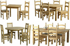 Corona Mexican Distressed Wax Pine Kitchen Dining Table Chair Sets Free Delivery