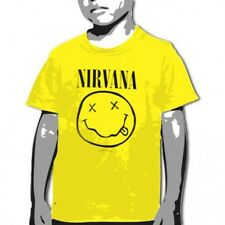 OFFICIAL Nirvana - Smile Yellow YOUTH T-shirt NEW LICENSED Kids Merch All SIZES
