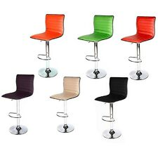 Swivel Bar Stool Modern Adjustable Height Metal Diner Seat Chair Hydraulic