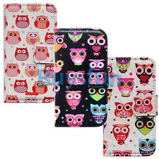New Cartoon Owl Bird Leather Wallet Case Cover for Samsung Galaxy S3 i9300