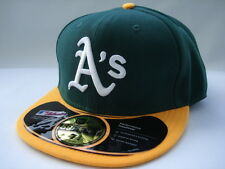 NEW ERA OAKLAND ATHLETICS 59fifty FITTED CAP HAT 5950 GREEN & YELLOW
