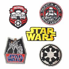 STAR WARS PATCH CLASSIC RETRO TROOPERS LOGO EMBROIDERED IRON ON PATCH