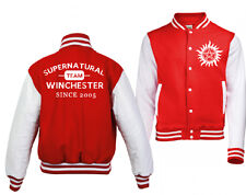 NEW MENS WOMENS TEAM WINCHESTER SAM DEAN CASTIEL VARSITY JACKET SUPERNATURAL