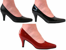 WOMENS MENS SEXY KINKY FETISH DRAG COURT STILETTO HEEL POINTED SHOES SIZES 3-13