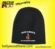 Personalized Boxing MMA custom logo beanie toque knit Skull cap Embroidered