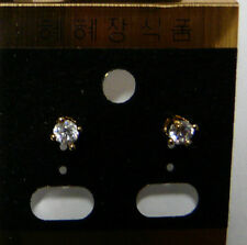 Crystal Earring Ear Stud Piercing  Fashion Jewelry Silver, Gold  plated 1 pair