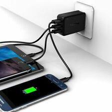 2.1 AMP Rapid Home Wall Travel Charger + 2x 6 FT. USB Cable For Verizon Phones