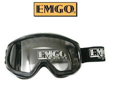Emgo Youth Kids Goggles Motocross Dirtbike Girls Boys BLACK BMX Racing Riding MX