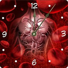 Rikki Knight Blood System In Body And Circulation Wall Clock