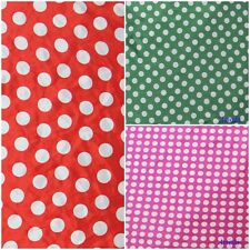 """1 Yard 1.1cm Polka Dot Fabric Red White Pink Green Minnie Mouse Satin 48"""" Wide"""