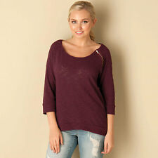 Only Womens Magne Zipper ? Top In Burgundy From Get The Label