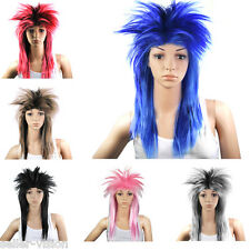 80s Ladies Glam Punk Rock Rocker Chick Tina Turner Wig Fancy Dress Party Costume