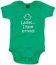 NEW KIDS BABY GROW LADIES I HAVE ARRIVED FUNNY NOVELTY VEST ONESIE CLOTHING