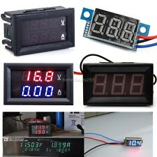 Dual Display LED DC 0-100V 10A Digital Voltmeter Ammeter Panel Amp Volt Gauge B2