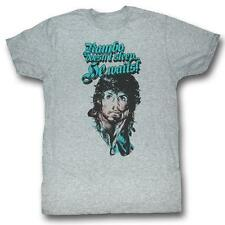 Rambo Rain On Your Face Heather Gray S M L XL Adult Men T-Shirt Tee