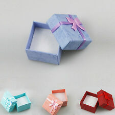 48/96 Red Pink Blue Purple Jewelry Ring Earring box Gift Box 4*4*3cm for Wedding