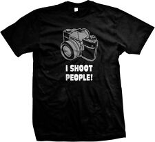 I Shoot People Photographer Funny Camera Instagram College Picture Mens T-shirt