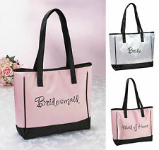 Bride Bridesmaid Maid of Honor Tote Bag Wedding Bridal Party Gift Favours