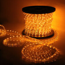 Saffron Yellow LED Rope Light 110V Home Party Christmas Decorative In/Outdoor