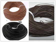 1.5mm-4mm Genuine Leather Cord Thread Bracelet Necklace Jewelry Making 10-100M