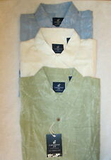 NWT Caribbean Joe Hawaiian 100% Washable Silk Mens Shirt Size M L NEW 3 Colors