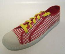 Rocket Dog - C213 2283 - Red and White Chequered Canvas Shoes UK 6