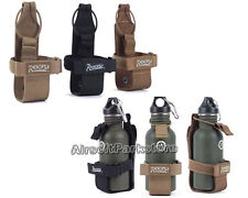 ROGISI Tactical Outdoor Molle Canteen Cover Water Bottle Pouch 3 Colors BK/CB