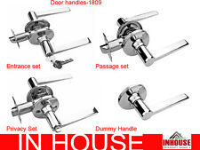 Handles-Passage,Privacy,Entrance with Deadbolt,Dummy, Polished stainless steel