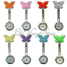 Cute Butterfly Nurse Clip-on Fob Brooch Pendant Hanging Pocket Watch Fobwatch