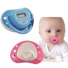 New Baby Digital Dummy Pacifier Thermometer Trendy Safe Pink NCYG