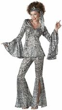 Sexy Womens 70s Disco Party Outfit Halloween Costume