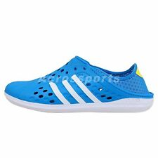 Adidas Court Adapt Neo Blue White 2014 Slip-On Sandals Casual Shoes