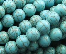 50pcs/100Pcs Round Loose Turquoise Charm Spacer Beads Jewelry 6mm Wholesale Lot