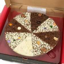 "10"" Inch Gourmet Chocolate Pizza Belgian Milk Choc Gift Present Stocking Filler"