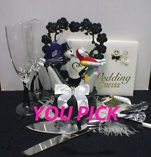 Nightmare before Christmas YOUR Choice Wedding Cake Topper, Glasses Server, Book