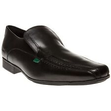 New Mens Kickers Black Osterpers Leather Shoes Loafer Slip On