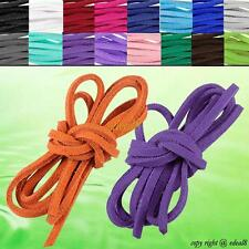 Necklace Leather Cord Soft Suede Thong Lace Flat Rope Thread String For Craft