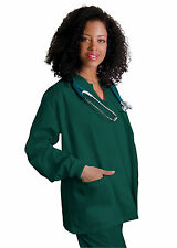 Womens Snap Front Warm Up Medical Nursing Scrub JACKET COAT NWT 25 COLORS!